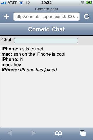 Cometd Chat