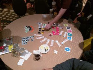 Healthy dose of stickers here at JSConf